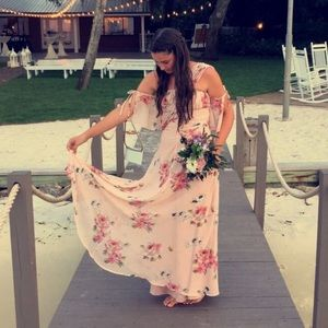 ASOS maxi dress with flowers